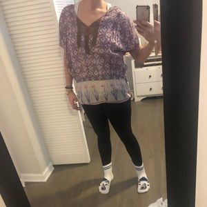 Colorful Free People Blouse
